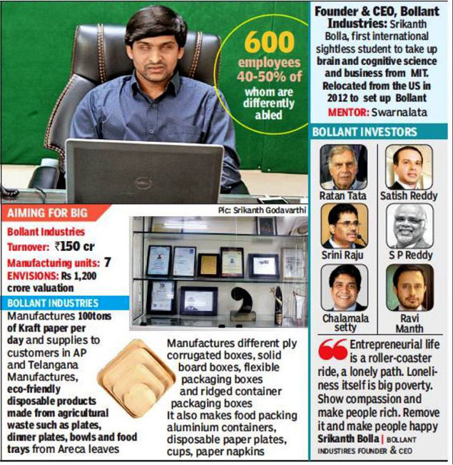 Bollant Industries Blind CEO Srikanth Bolla